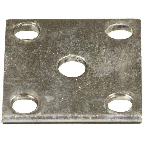 "Zinc Axle Tie Plate for 1.5"" Square Trailer Axle"