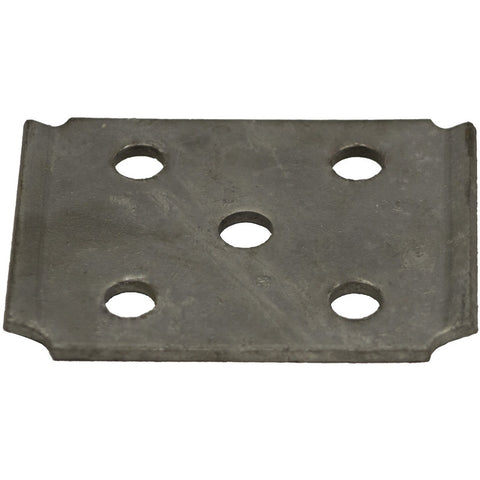 "7000# Galvanized Tie Plate for 2"" Square Axle Tubing"