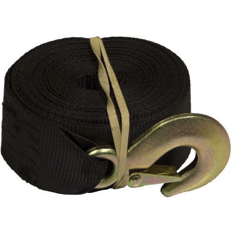 "25' Winch Strap w/ 3/4"" Hook and Loop (4000 lb Max Capacity)"