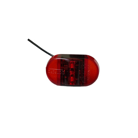 TecNiq Red LED Mini PC Side Marker Light w/ Ground Wire
