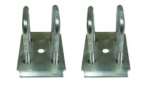 "Zinc Tie Plate Kit for 2"" Square Trailer Axle"