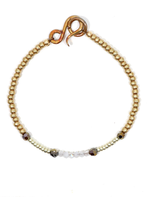 Bronze Swarovski Delicate Single Bracelet