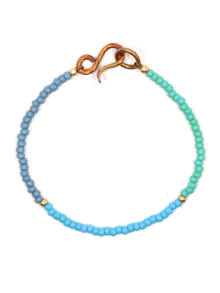 Blue Trio Delicate Single Bracelet