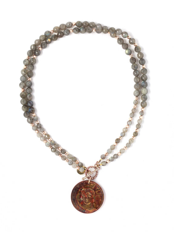 Melinda Faceted Labradorite Necklace
