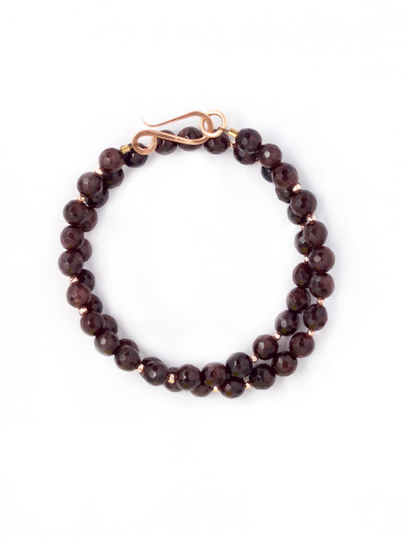 Gia Faceted Garnet Wrap Bracelet