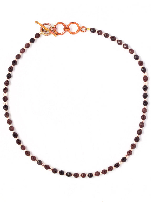 Aria Faceted Garnet Choker