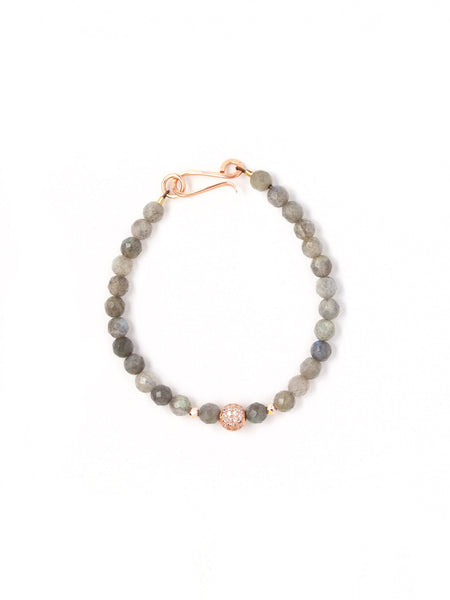 Harper Faceted Labradorite Small Single Bracelet