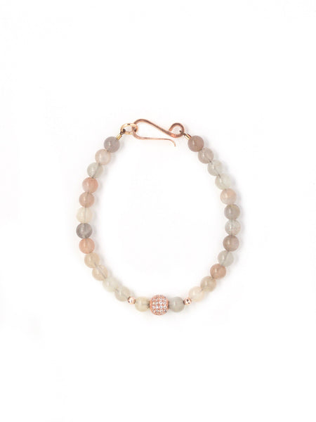 Harper Peach Moonstone Small Single Bracelet