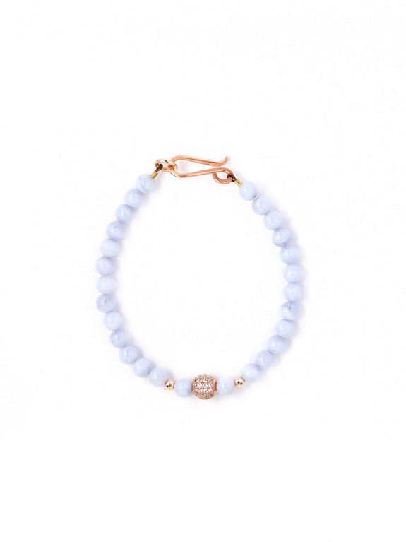 Harper Blue Lace Agate Small Single Bracelet