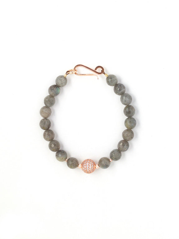 Harper Faceted Labradorite Single Bracelet