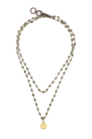Going North Pyrite Layer Necklace