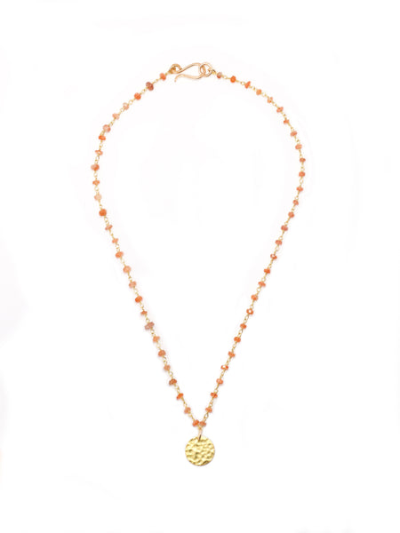 Sunstone Coin Necklace