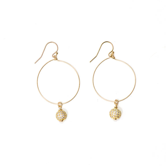 Pavé + Hoop Earrings