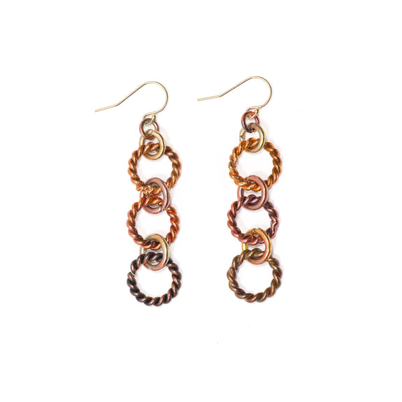 Twisted Drop Earrings