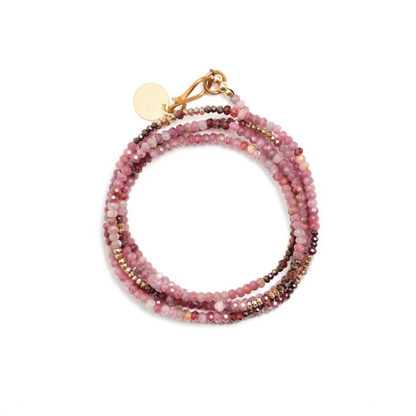 Ruby Five Wrap Bracelet