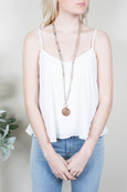 Melinda Peach Moonstone Necklace