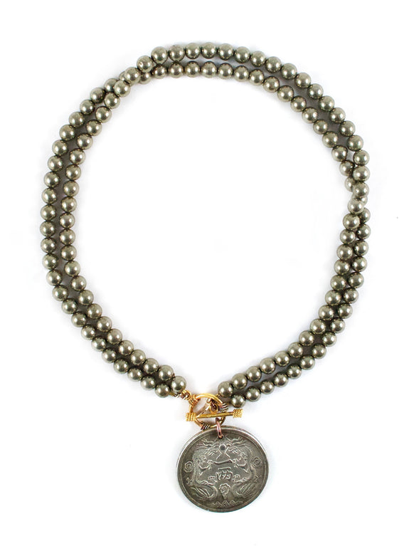 Melinda Pyrite Necklace