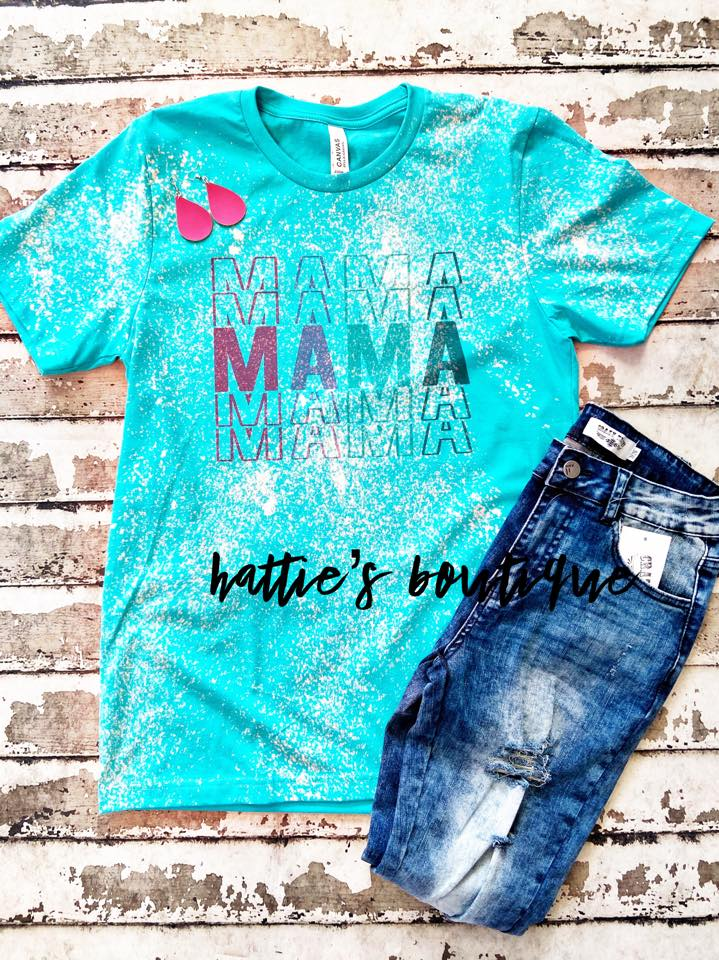 Retro Mama Tee Distressed - Hattie's Boutique