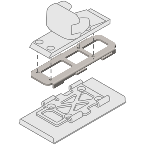 top plate for mounting backcountry, alpine, or telemark bindings