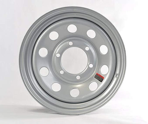 "15"" Wheel, Silver Modular, 6 on 5.5"" Wheels & Fenders Nationwide Trailers Parts Store"