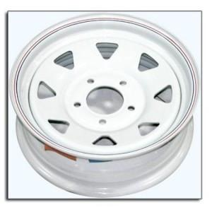"15"" Wheel, White Spoke, 5 on 5"" Wheels & Fenders Nationwide Trailers Parts Store"