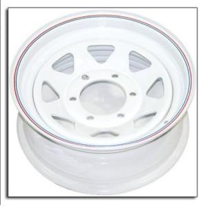 "15"" Wheel, White Spoke, 6 on 5.5"" Wheels & Fenders Nationwide Trailers Parts Store"