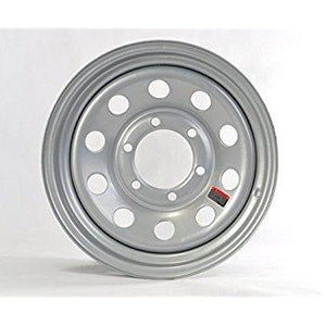 "16"" Wheel, Silver Modular, 6 on 5.5"" Wheels & Fenders Nationwide Trailers Parts Store"