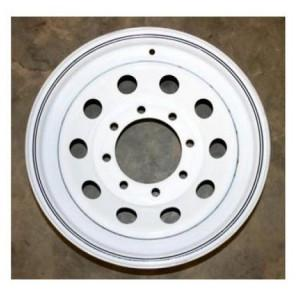 "16"" Wheel, White Modular, 8 on 6.5"" Wheels & Fenders Nationwide Trailers Parts Store"