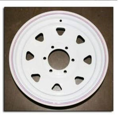 "16"" Wheel, White Spoke, 6 on 5.5"" Wheels & Fenders Nationwide Trailers Parts Store"