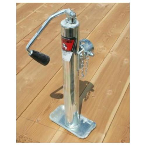Bulldog Round Topwind Swivel Jack, 5k (Pipe Mount) Trailer Jacks Nationwide Trailers Parts Store