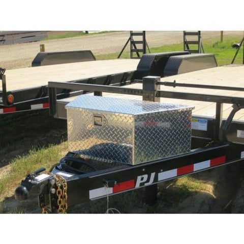 Bumperpull Large A-Frame Trailer Toolbox - Aluminum Tool Boxes Nationwide Trailers Parts Store
