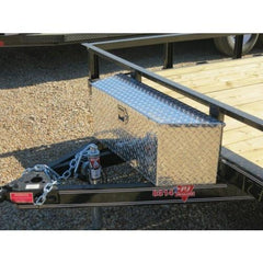 Bumperpull Small A-Frame Trailer Toolbox - Aluminum Tool Boxes Nationwide Trailers Parts Store