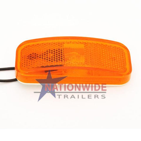"Clearance Light, Rectangular, 4"" Amber Lights & Electrical Nationwide Trailers Parts Store"