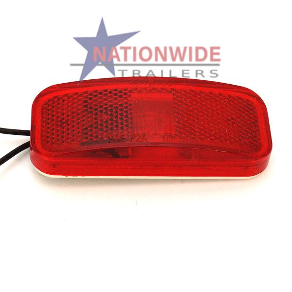 "Clearance Light, Rectangular, 4"" Red Lights & Electrical Nationwide Trailers Parts Store"