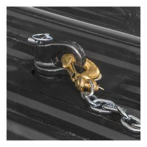 Curt Gooseneck Hitch Ball & Safety Chain Anchor Kit (Chevy/Ford/GMC/Titan XD OEM Puck System)