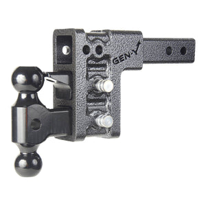 "Gen-Y Adjustable Hitch w/ Dual Ball & Pintle, 5"" Drop/Rise, 16K Hitches & Towing (FS) Nationwide Trailers Parts Store"