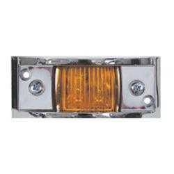 LED Clearance Light, Chrome Plated, Amber Lights & Electrical Nationwide Trailers Parts Store