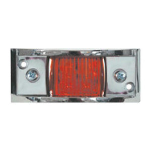 LED Clearance Light, Chrome Plated, Red Lights & Electrical Nationwide Trailers Parts Store