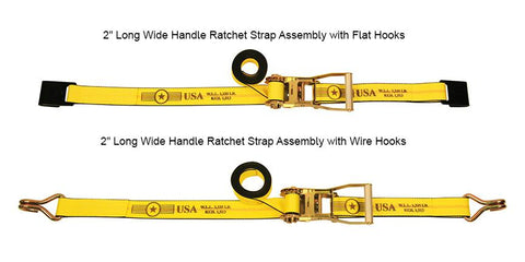"Self-Contained Ratchet Straps, 2"" x 27' Cargo Control Nationwide Trailers Parts Store"