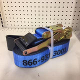"2"" x 27' Strap & Ratchet w/ Flathook,"