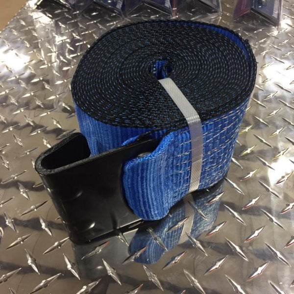 "Strap w/ Flathook, 4"" x 30' Cargo Control Nationwide Trailers Parts Store Blue 1"