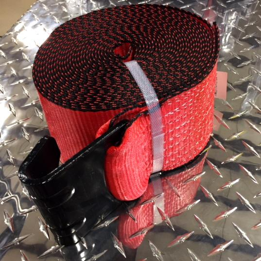 "Strap w/ Flathook, 4"" x 30' Cargo Control Nationwide Trailers Parts Store Red 1"