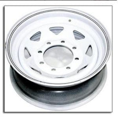 "Wheel 16″ White Spoke 8 on 6.5"" Wheels & Fenders Nationwide Trailers Parts Store"