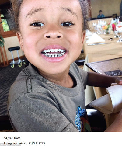 The cutest of these diamond grillz featured on this list is King Cairo s  grill. This little man is the son of Tyga and Blac Chyna. And with this  grill 773c8f7bb