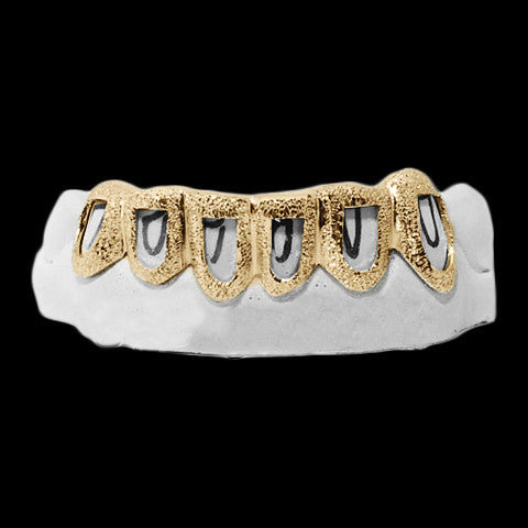 [CUSTOM-GRILLZ] Open Face Diamond Dust - Gold Teeth - Gold Grillz - Gold Grills - Bargainsociety