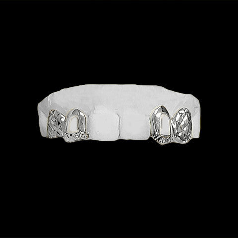 [CUSTOM-GRILLZ] 4 Teeth w/ Diamond Cuts and Open Face - Gold Teeth - Gold Grillz - Rois D'or