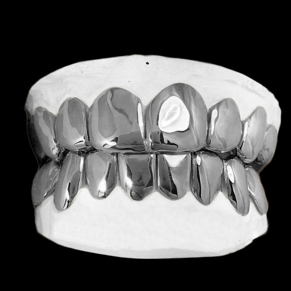 [CUSTOM-GRILLZ] Solid Sterling Silver Grillz - Gold Teeth - Gold Grillz - Rois D'or