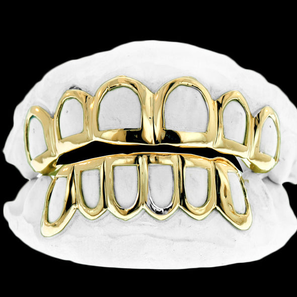 [CUSTOM-GRILLZ] Solid Gold Open Face Grillz - Gold Teeth - Gold Grillz - Rois D'or