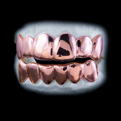 [CUSTOM GRILLZ] Rose Gold Grillz - Gold Teeth - Gold Grillz - Rois D'or