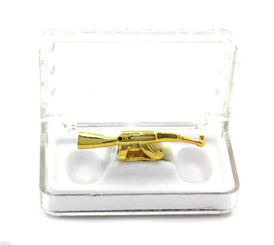 Gold Plated Grillz: AK-47 - Gold Teeth - Gold Grillz - Gold Grills - Bargainsociety